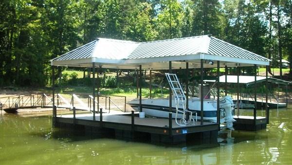 steel dock, floating ladder, boat docks, arched walkway, boat lift