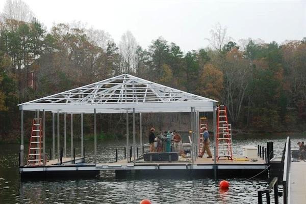 dock redecking, dock refurbishing, PVC flooring, IPE flooring, ironwood decking