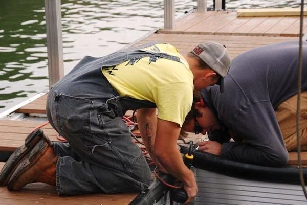 redecking, dock refurbishing, PVC Flooring, IPE Flooring, Ironwood Decking, dock winches