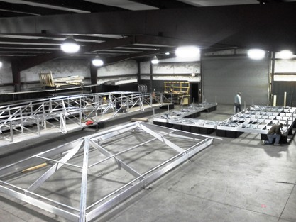 aluminum boat docks, steel boat docks, custom boat docks