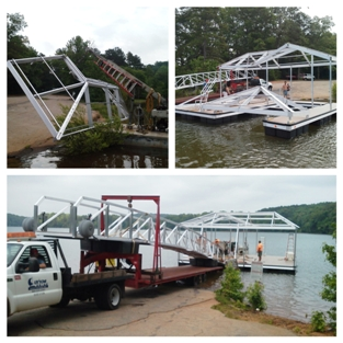 custom built boat docks, floating boat dock, floating docks upstate south carolina