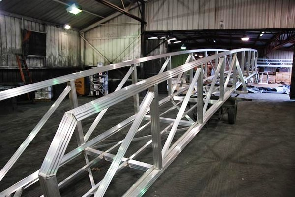 all aluminum walkways, arched walkway, dock pier, dock walkway