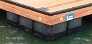 encapsulated float, dock float, floating dock, permafloat, dock floatation