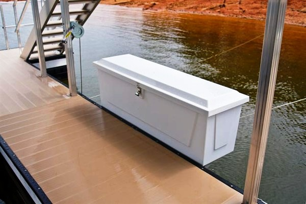 dock box, boat storage, dock storage, fiberglass dock box