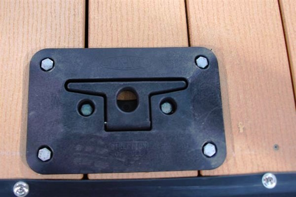 dock cleat, cleat, fold down cleat, boat tie, boat anchor