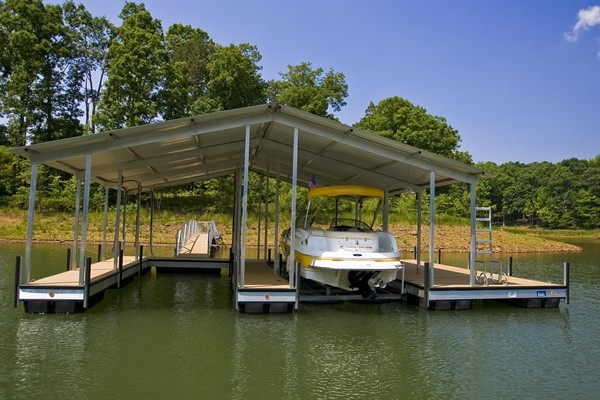 gable roof, boat lift, pwc lift, double slip, boat docks