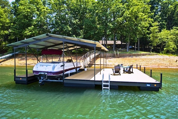 steel boat dock, custom built dock, floating dock, boat docks