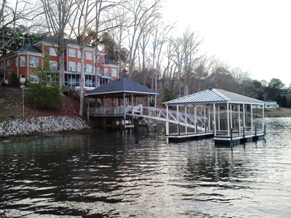 Savannah River boat docks, custom made docks, rip raft, erosion control
