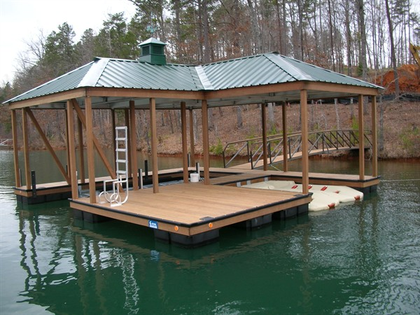 IPE Wrapped, The Cliffs Dock, PWC Lift, cupola, Lake Keowee boat docks