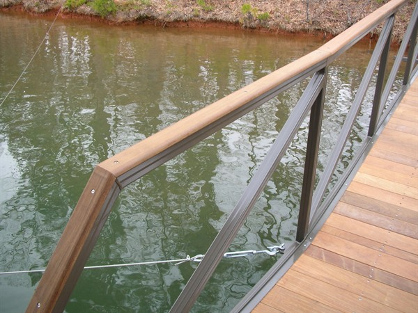 IPE wrapped walkway, aluminum walkway, The Cliffs approved walkway