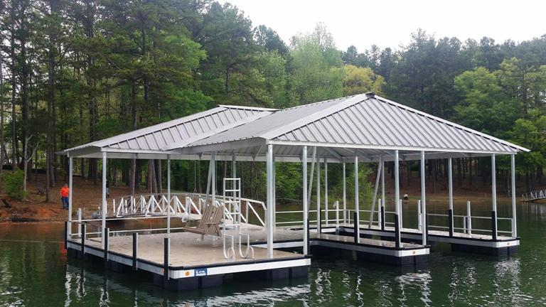 boat dock, aluminum boat dock, safety dock, dock railing