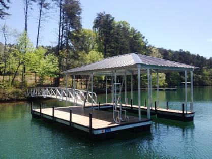 lake keowee dock, docks for sale on lake keowee, aluminum dock