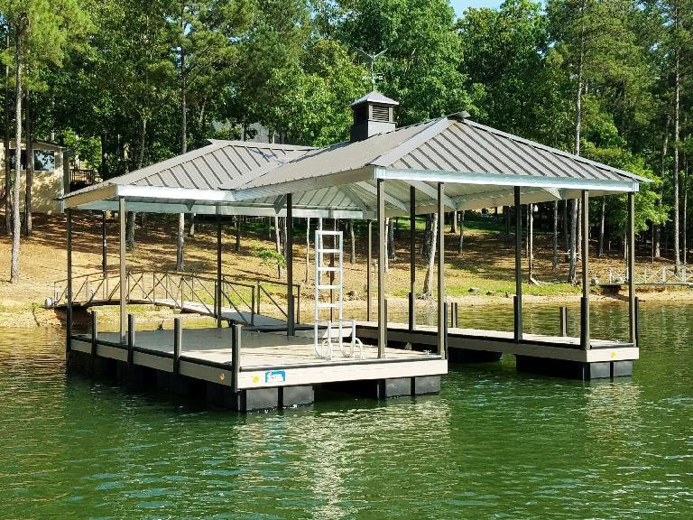 boat dock, steel boat dock, lake hartwell docks, docks for sale