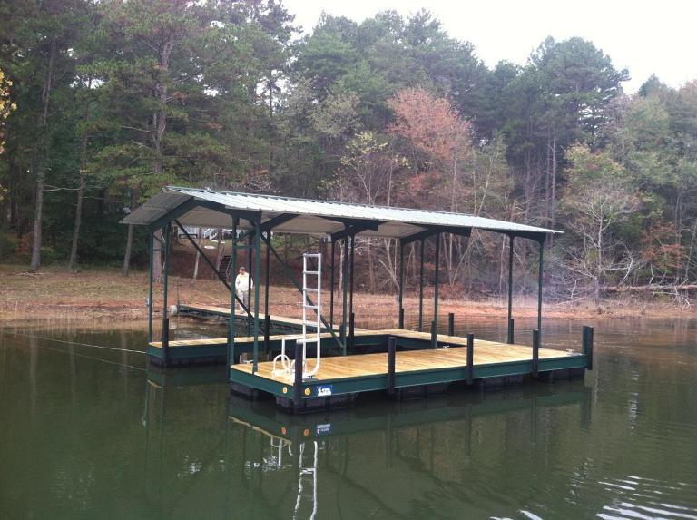 steel boat dock, custom built steel dock, floating steel dock, sturdiest material for a boat dock