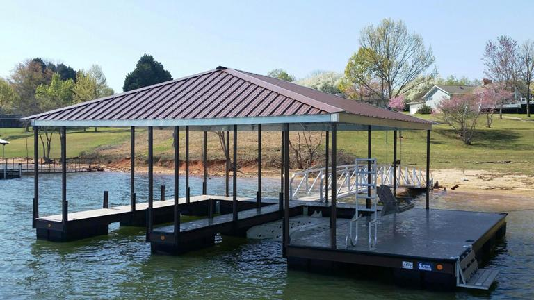 dock accessories, PWC lift, dock ladder, dock bench, lake life, boat dock