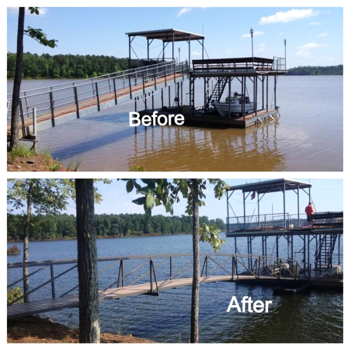 arched walkway, steel walkway, floating dock, dock ramp, ramp for dock