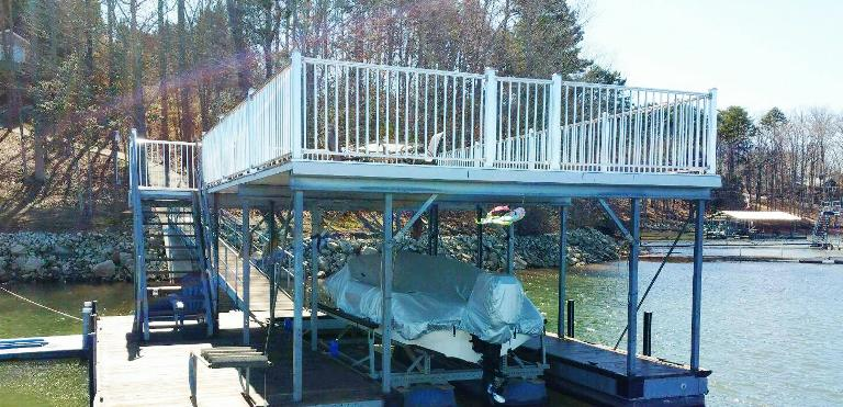 picket rails, dock repairs, dock refurbishing, sundeck roof, boat dock