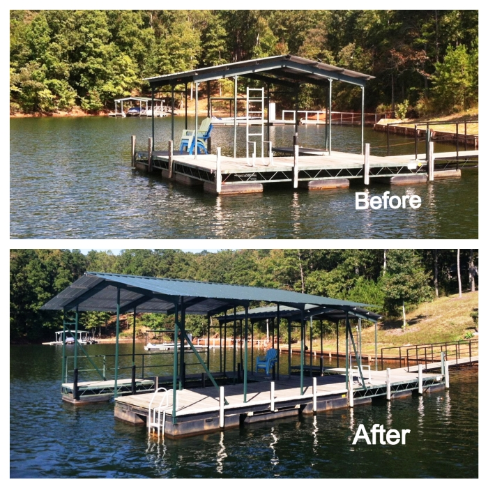 used dock, used floating dock, used dock pieces, piece together dock setions