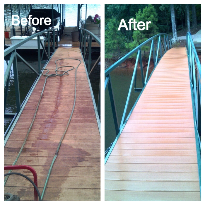 pressure wash, dock refurbish, dock cleaner, decking cleaner, cleaning dock