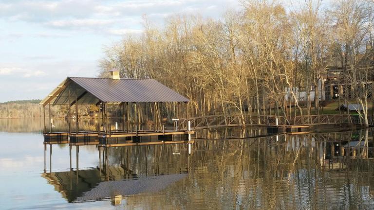 savannah river boat dock, steel boat dock, savannah river