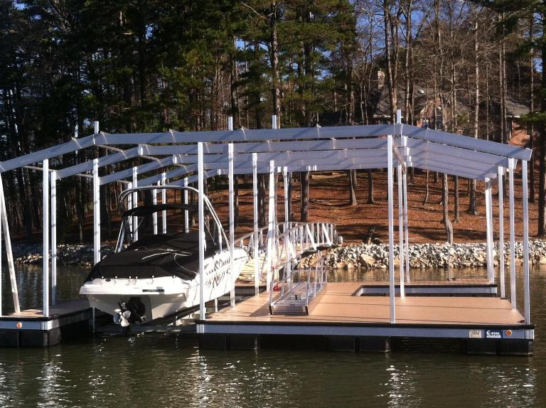 aluminum dock, double slip dock, max size dock, floating boat dock