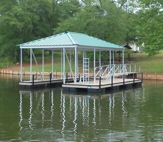 Lake Secession, boat docks, single slip, floating dock,