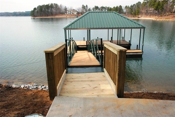 dock pier, custom built pier, lake pier, wooden pier