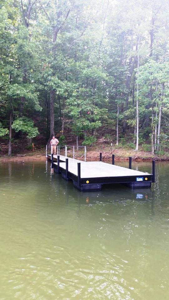 platform boat dock, steel platform dock, floating docks, lake secession boat docks