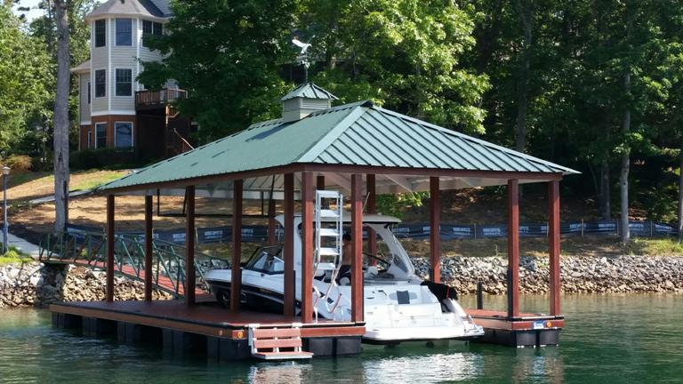 zuri decking, lake keowee boat docks, custom built docks, boat dock
