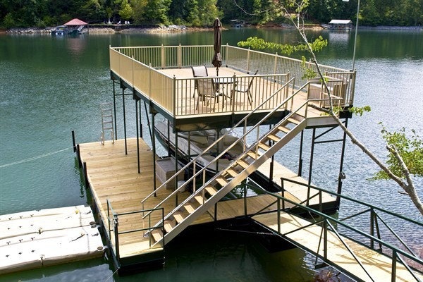 swim ladder, dock stairs, picnic, outdoor furniture, lake living, Lake Hartwell