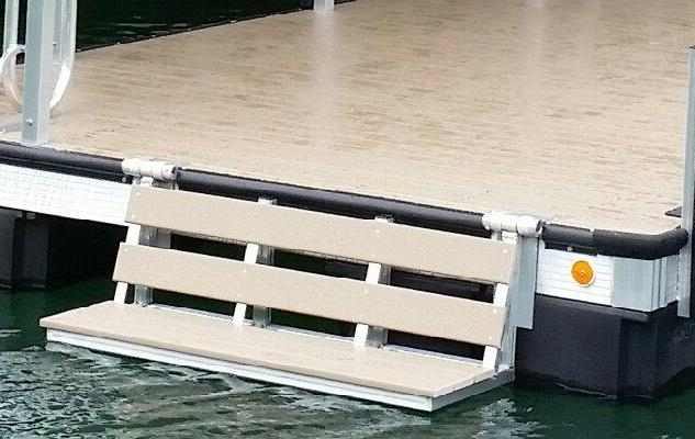 swim bench, water bench, dock bench, boat dock bench, dog ladder