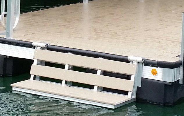 swim bench, water bench, dock bench, boat dock bench, dog ladder