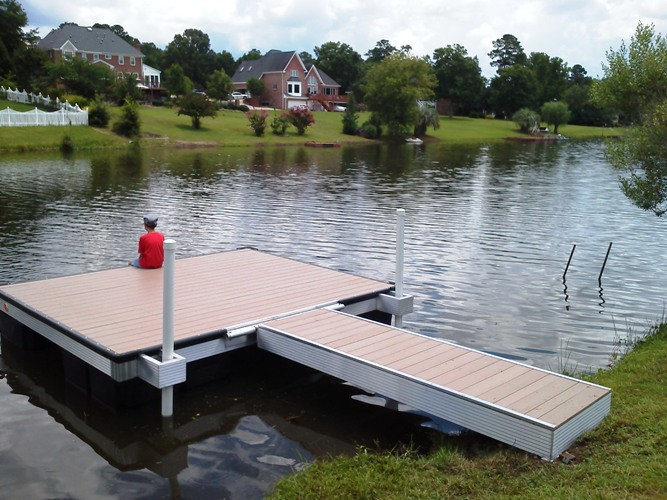 swim platform, platform floating docks, Evans GA, small neighborhood lake dock