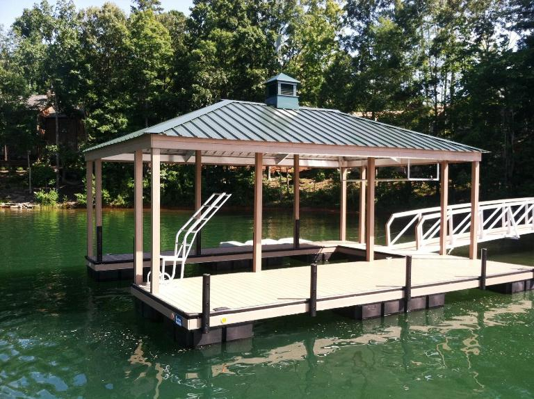 the cliffs approved dock, the cliffs lake keowee, the cliffs dock