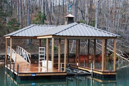 compound hip roof, dock ladder, aluminum dock, the cliffs style dock