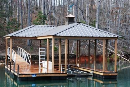 compound hip roof, dock ladder, aluminum dock, the cliffs style dock