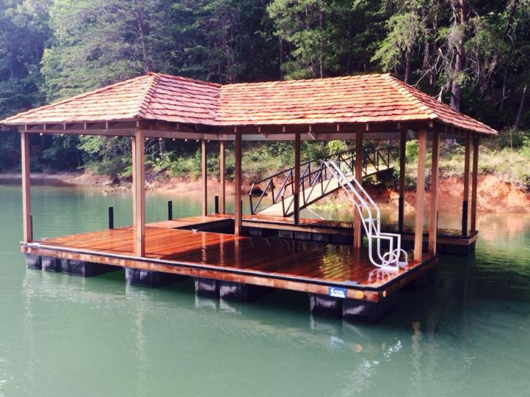the reserve dock, the reserve dock lake keowee, lake keowee floating docks