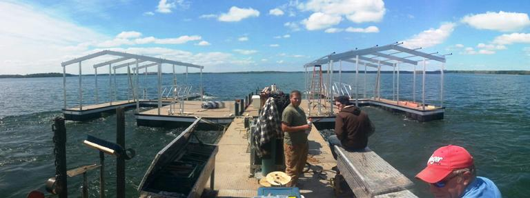 aluminum docks, boat docks, custom built docks, dock fabrication