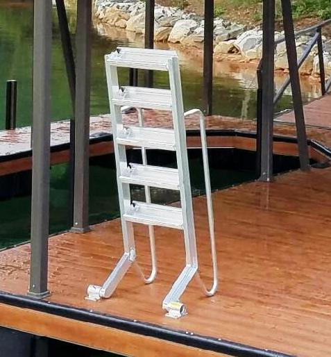 wet steps, dock ladder, sloped dock ladder, aluminum swim ladder