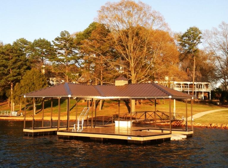 steel dock, personal watercraft lift, aluminum swim ladder, fiberglass dock box, boat dock